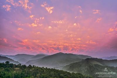 Sunrise in the Cordillera Escalera, Peru