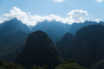 View from Machu Picchu into the Andes