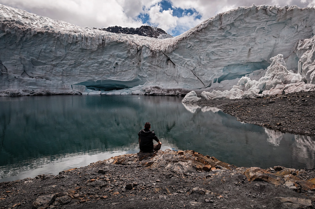 Meditation at the Pasto Ruri Glacier