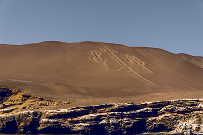 Ancient Candelabro Geoglyph in the Ica Desert