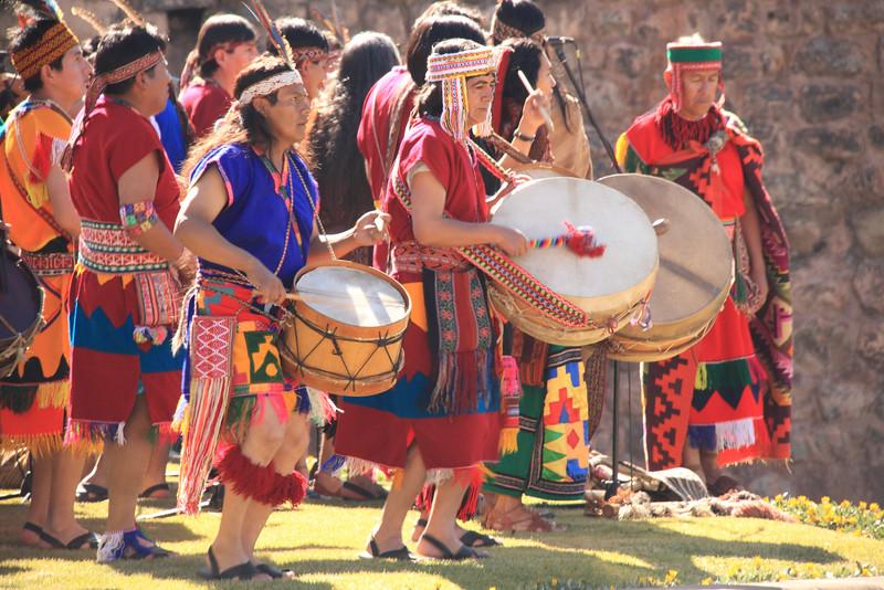 Inca Drummers, Inti Raymi Festival, Cusco Per