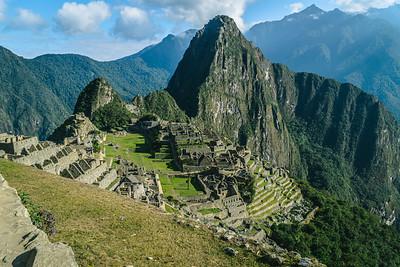 View Over Machu Picchu and Huayna Picchu