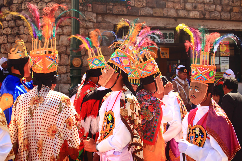 Paraders in Costumes, Inti Raymi festiva