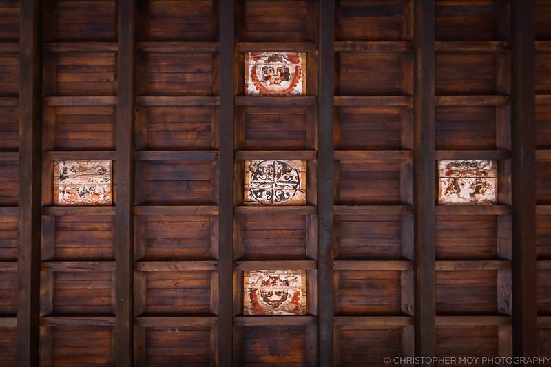 The ceiling at Convento de Santo Domingo del Cusco (Qorikancha)