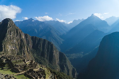 Huayna Picchu with a view of the Mountains Beyond