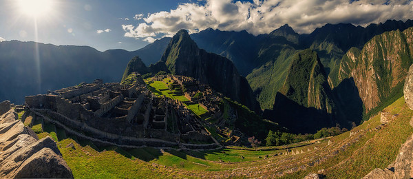 Machu Picchu overlooking Aguas Caliente