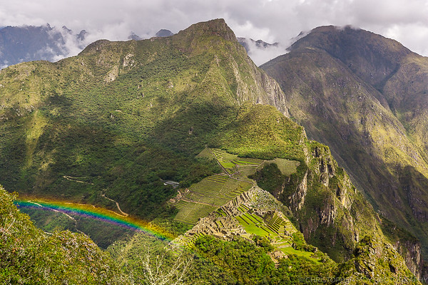 The view from the top Wayna Picchu.