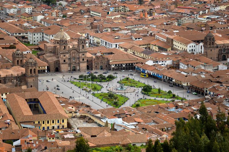 View over Plaza de Armas in Cusco, Peru