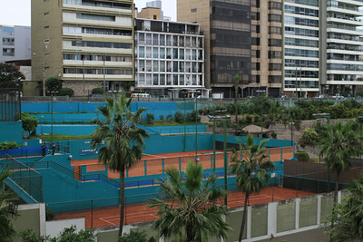 Tennis courts on terraces
