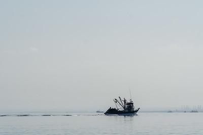 Fishing Boat Far Off the Coast of Peru