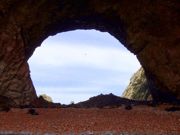 Hidden coves in Islas Ballestas
