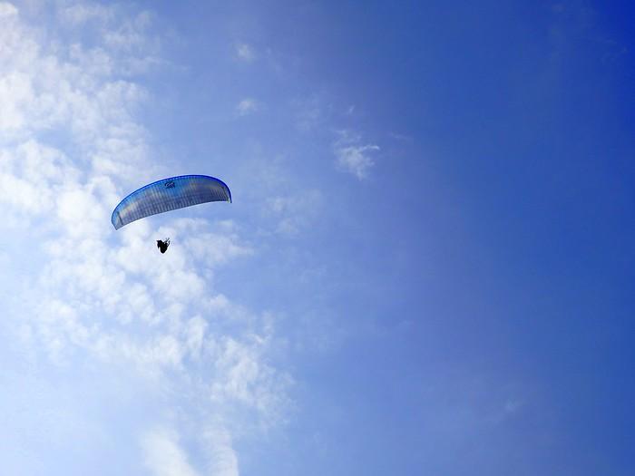 Paragliding in Miraflores, Lima