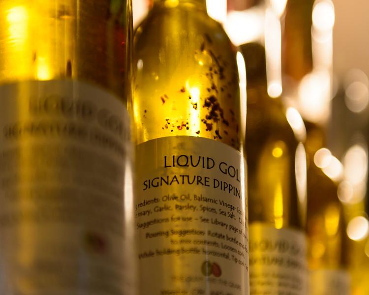 Vinaigrette backlit by Golden Sunlight, Westside Market