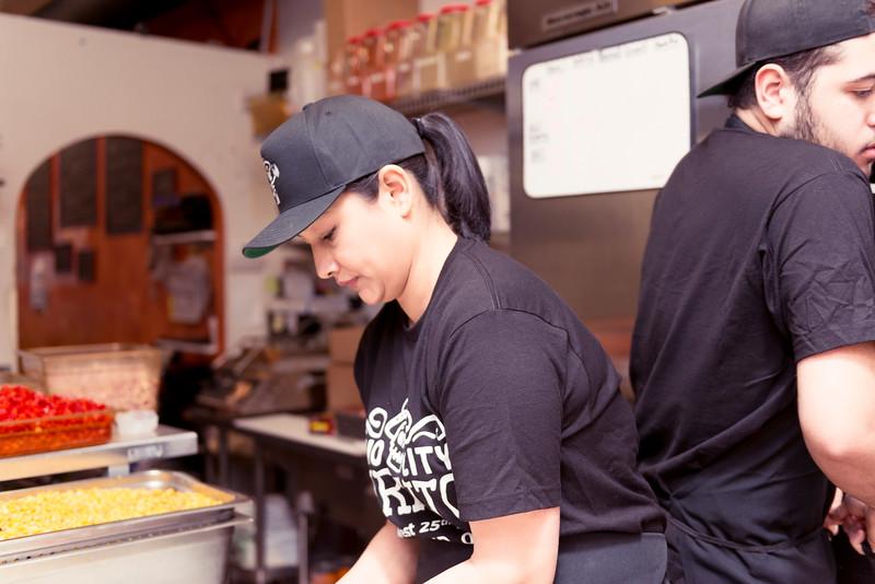 Kitchen and Employees, Ohio City BGurrito
