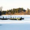 Frozen Hinckley Lake