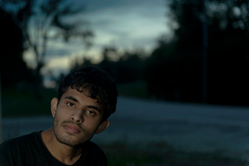 Portrait of Sahil at Sunset using Off Camera Flash