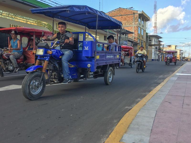 Motokars in Iquitos.