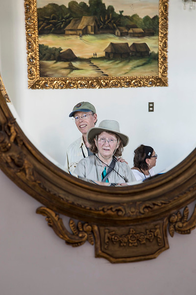 In mirror of old hotel in Iquitos (photo by John Jones)