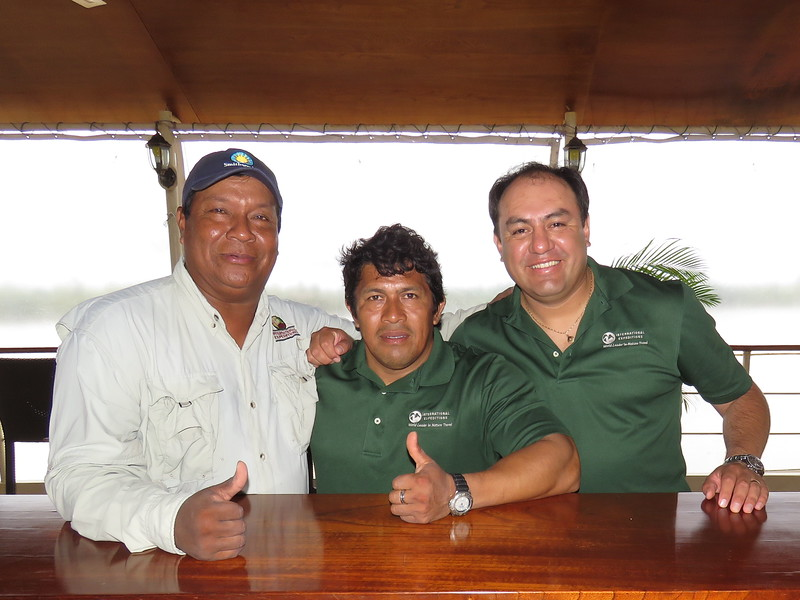 Our guides--Segundo, Usiel, and Angel