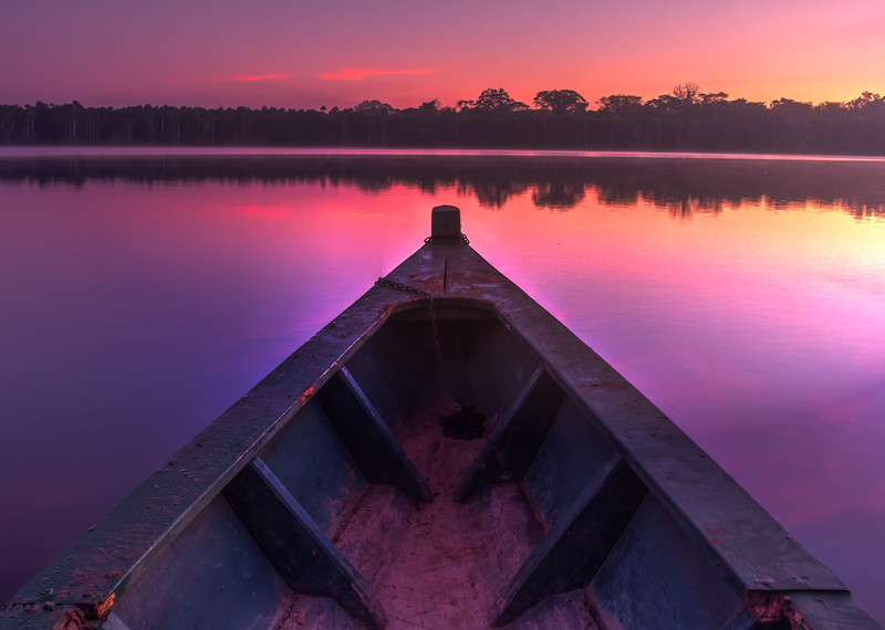 Canoe on Lake Sandoval