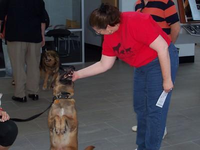 Canine Customer shows off for Karen