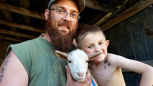 Sean Zerrusen and son Leo with Diamond<br /> Submitted by Donna Zerrusen