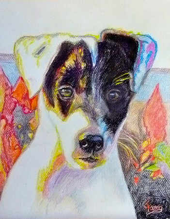"""Colored Pencil on Watercolor Paper 14"""" h xx 11"""" w Gift"""