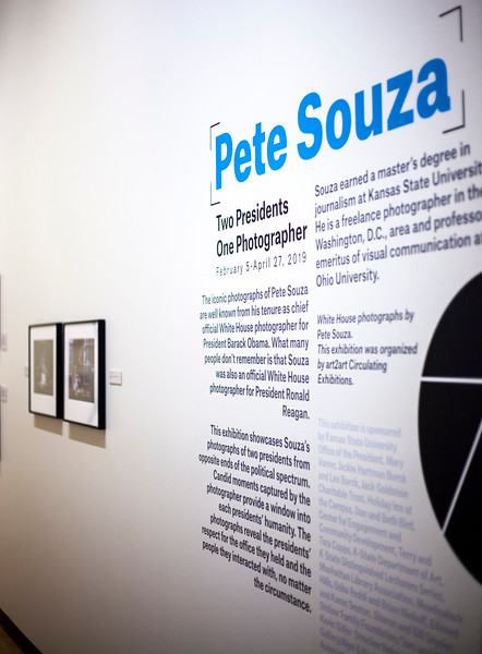 Marianna Kistler Beach Museum featured White House photohgrapher, Pete Souze's work on Feb. 5, 2019. <br /> ( Alanud Alanazi | Collegian Media Group)
