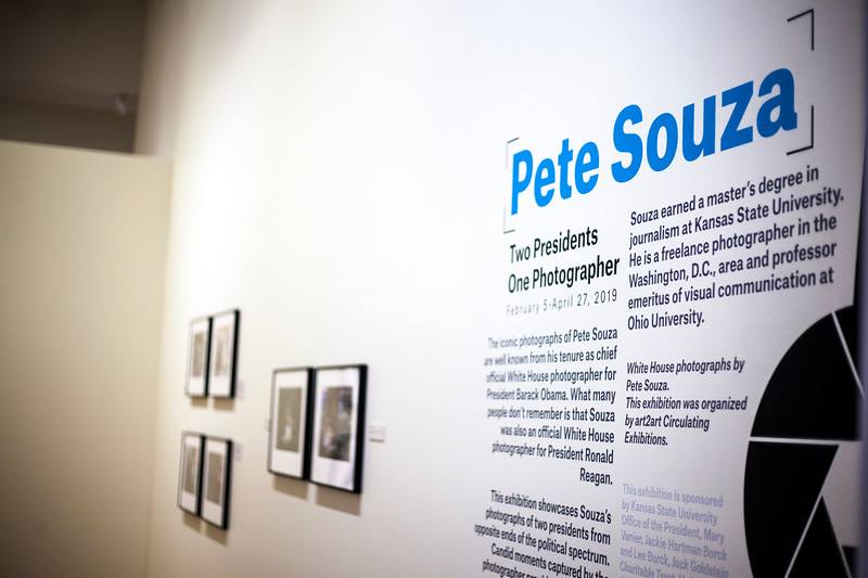 Marianna Kistler Beach Museum will be featured White House photohhrapher, Pete Souza's work on Feb. 5, 2019. <br /> ( Alanud Alanazi | Collegian Media Group)