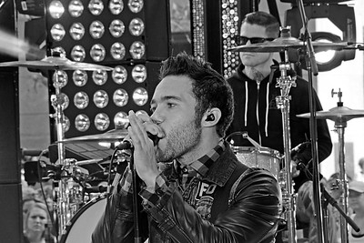 Pete Wentz and Fall Out Boy performing live at NBC's TODAY Show Concert Series on July 19, 2013 at Rockefeller Center in NYC. Photos by Lukas Greyson/PatrickMcMullan.com  **Images can be seen via GREYSONEVENTS.COM**