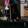 "HOLLY PELCZYNSKI - BENNINGTON BANNER ""Pete the Cat"" explores the green on a mini golf  hole on Monday afternoon. The Green is a practice hole for the upcoming Library Mini Golf taking place Feb. 28 & 29 open to all to take place in the 18 hole mini golf course while exploring the library and taking place in some indoor fun."
