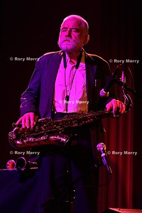 Peter Brötzmann saxophone and Donald Robinson drums at the Chapel