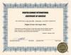 Peter Lantz at Fighter Combat International 2004 July 11 - Peter Lantz Certificate of Successs Flight of Your Life Super Ride