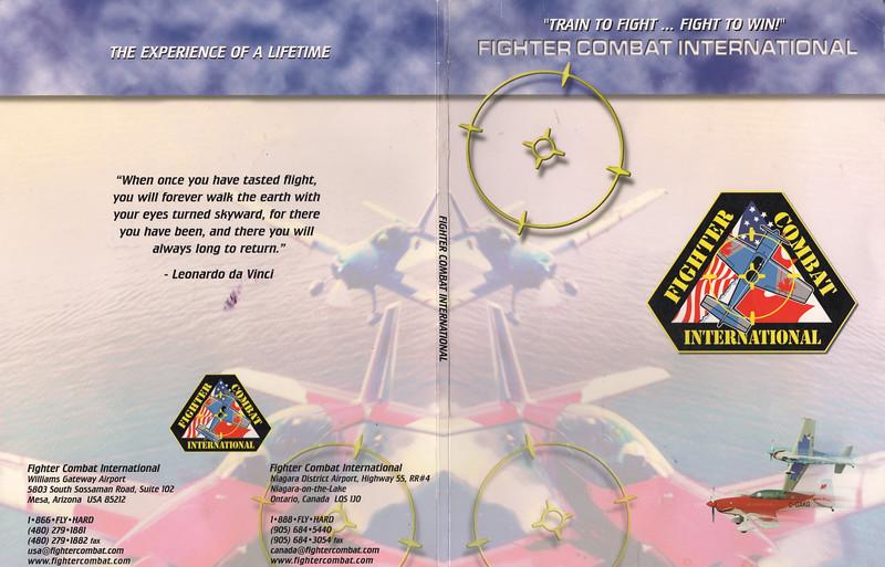 Peter Lantz at Fighter Combat International 2004 July 11 - folder cover outside