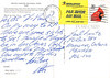 1995 02 01 postcard to Peter Lantz from Paul Lantz. Image of Bryce Canyon National Park in Utah. Mailed from Van Nuys California. back of card