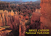 1995 02 01 postcard to Peter Lantz from Paul Lantz. Image of Bryce Canyon National Park in Utah. Mailed from Van Nuys California.front of card