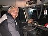 Peter Lantz in his truck cab