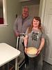 Peter Lantz and Devora Hollands-Gray bringing food