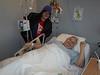 Denise Lantz with Peter Lantz at room 600 Belleville General Hospital Quinte Wing.
