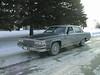 Peter Lantz in his 1987 Cadillac in Englehart 1988 December 25