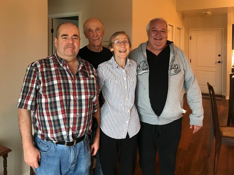 Paul, Alan, Margaret, Peter in Kingston 2019 June 4.