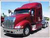 Red truck Peterbilt