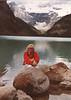 """Barbara Johansen, Lake Louise, Albert September 1984 """"thinking of you as always Barbara"""""""