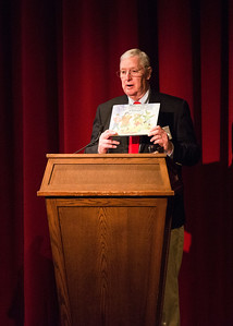 Marty Keller '62 speaks at the Yom HaShoah (Holocaust Remembrance Day) Morning Meeting