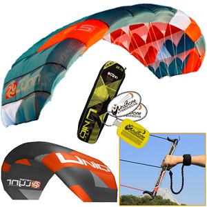 Peter Lynn UNIQ TR Single Skin Foil Power Kite Trainer Kiteboarding Kitesurfing