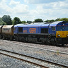 66751 pauses with 6E84 Middleton Towers - Monk Bretton