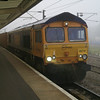 66710 at Peterborough with 4M21 Felixstowe - Hams Hall