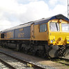 66717 sits outside the shed