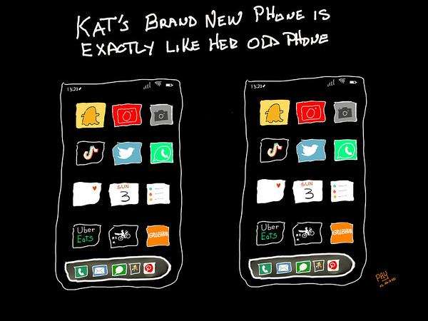 Kat's New Phone Is Exactly Like Her Old Phone
