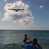Coming in for a landing.  St. Maarten airport.